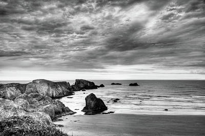 Photograph - Bandon Oregon Black And White by Connie Cooper-Edwards