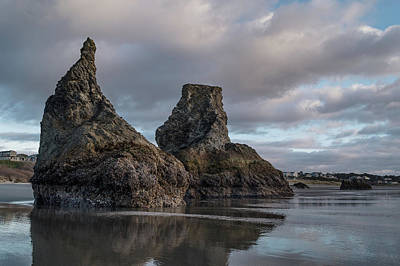 Photograph - Bandon Sea Stacks Under Clouds by Greg Nyquist