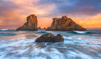 Royalty-Free and Rights-Managed Images - Bandon Sunrise by Darren White