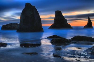 Photograph - Bandon Sunset Surf by Adam Jewell