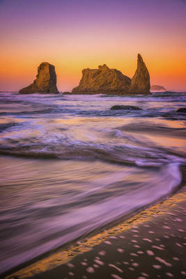 Print featuring the photograph Bandon's Breath by Darren White