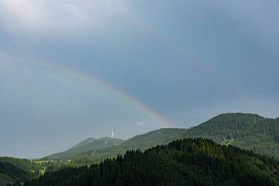 Photograph - Bands And Rainbows - Lush Mountains After A Summer Rain by Georgia Mizuleva