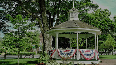 Ma Photograph - Bandstand by Bill Dussault