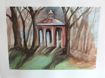 Painting - Bandstand Over Looking Pleasure Bay by Tom Steiner