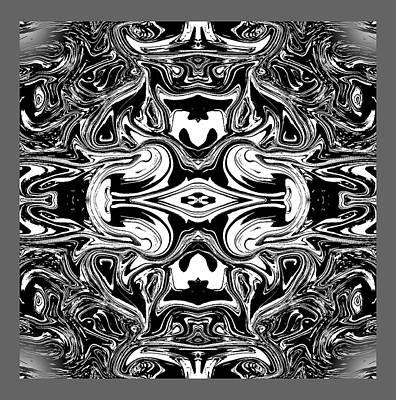 Abstract Digital Art - Bandw by Blind Ape Art