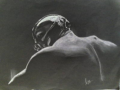 The Dark Knight Drawing - Bane by Ajay Atroliya