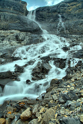 Photograph - Banf Bow Glacier Falls Portrait by Adam Jewell