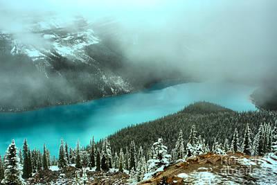 Photograph - Banff Blue Through The Mist by Adam Jewell
