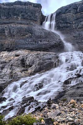 Photograph - Banff Bow Glacier Falls Portrait by Adam Jewell