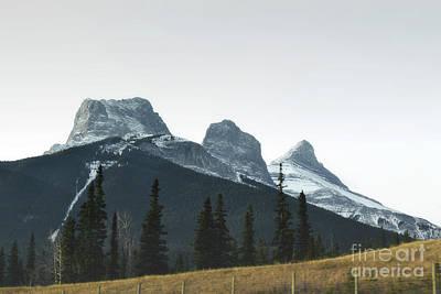 Photograph - Banff Canada Mountain Field Landscape by Andrea Hazel Ihlefeld