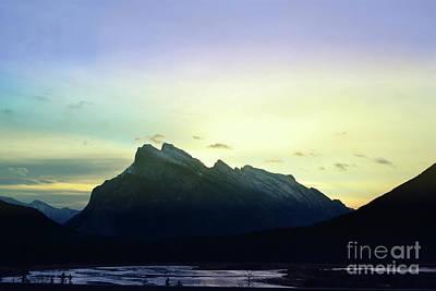 Photograph - Banff Canada Mountain Lake Sunrise Landscape by Andrea Hazel Ihlefeld