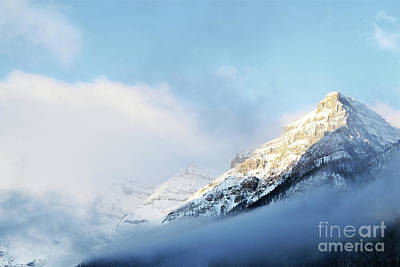 Photograph - Banff Canada Mountain Sunset Clouds by Andrea Hazel Ihlefeld