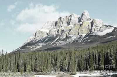 Photograph - Banff Canada Rustic Castle Mountain Landscape by Andrea Hazel Ihlefeld