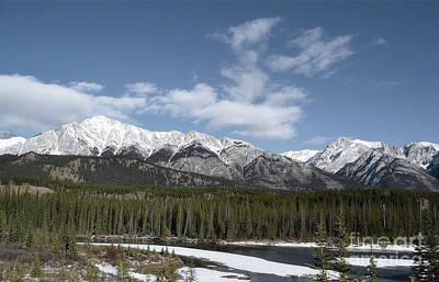 Photograph - Banff Canadian Rockies Countryside by Andrea Hazel Ihlefeld