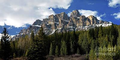Banff - Castle Mountain Art Print by Terry Elniski
