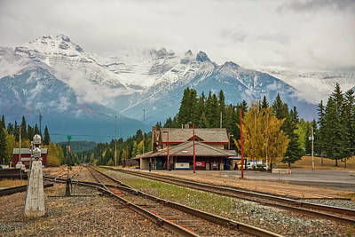 Photograph - Banff Depot 2009 01 by Jim Dollar