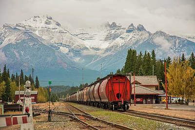 Photograph - Banff Depot 2009 02 by Jim Dollar