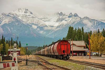 Photograph - Banff Depot 2009 02 by Jim Dollar