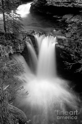 Canadian Rockies Photograph - Banff - Johnston Canyon Monochrome 1 by Terry Elniski