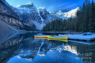 Photograph - Banff Moraine Lake Reflections by Adam Jewell