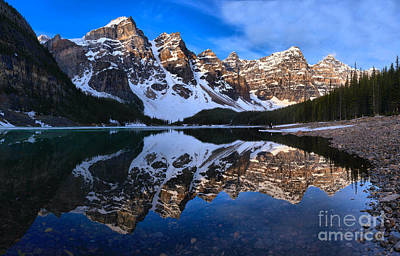 Photograph - Banff Moraine Lake Spring Reflections by Adam Jewell