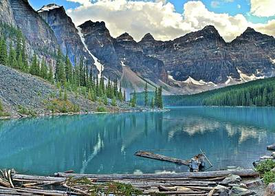 Photograph - Banff Moraine Scenic View by Frozen in Time Fine Art Photography