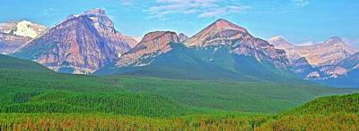 Photograph - Banff Mountain Range Pano by Frozen in Time Fine Art Photography