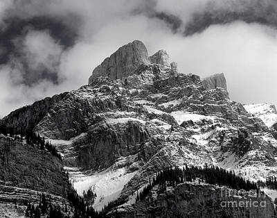 Photograph - Banff - Mountain Scenic Monochrome by Terry Elniski