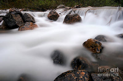 Photograph - Banff - Rushing Mountain Water by Terry Elniski