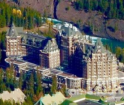 Photograph - Banff Springs Hotel  by Susan Garren