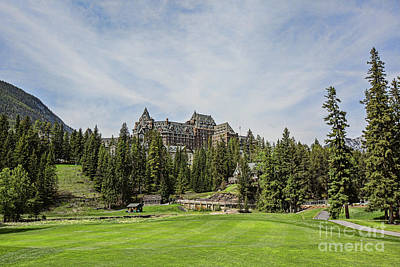 Banff Springs No 15 Fairway And The Castle Art Print