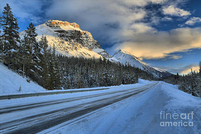 Photograph - Banff Sunset Tracks by Adam Jewell