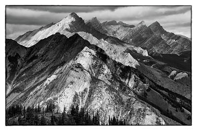 Photograph - Banff Viewpoint Bw by David Beebe