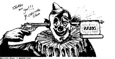 Bang Capo The Clown Art Print by Ben Sawin