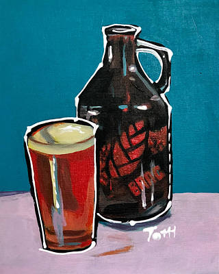 Growler Painting - Bang by Laura Toth