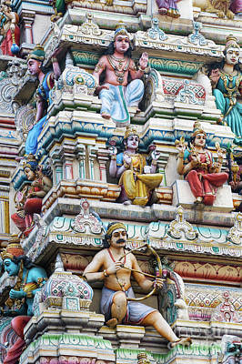 Photograph - Bangalore Hindu Temple Gopuram  by Tim Gainey