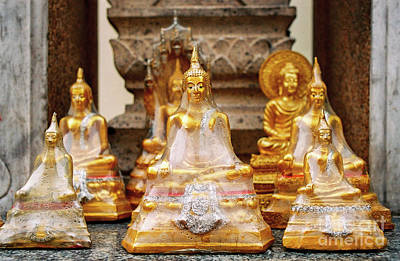 Photograph - Bangkok Buddhas After The Rain by Dean Harte