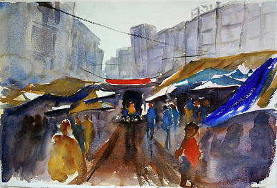 Painting - Bangkok Street Market by Tom Simmons