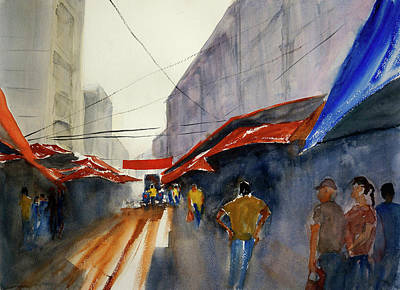 Painting - Bangkok Street Market2 by Tom Simmons