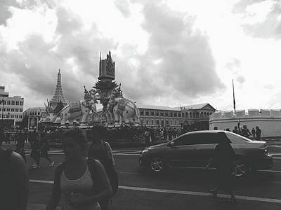 Photograph - Bangkok, Thailand In The Time Of Mourning by Sirikorn Techatraibhop
