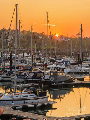 Photograph - Bangor Marina Sunset by Jim Orr