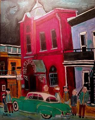 Painting - Bagg Street Shul Temple Beth Solomon by Michael Litvack
