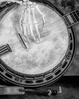 Folk Music Wall Art - Photograph - Banjo Addiction by Tom Mc Nemar