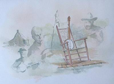 Painting - Banjo At Rest by Jim Stovall