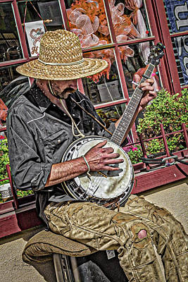 Banjo Man Orange Art Print