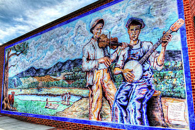 Photograph - Banjo Mural by Dale R Carlson