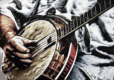 Banjoed Art Print by Tilly Williams