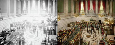 Photograph - Bank - Bank With A Lot Of Interest 1920 - Side By Side by Mike Savad