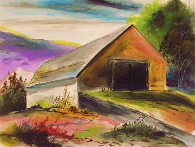 Painting - Bank Barn Near Sunset by John Williams