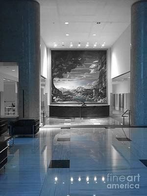 Photograph - Bank Lobby by Jenny Revitz Soper